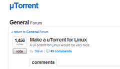 uTorrent Vote Linux