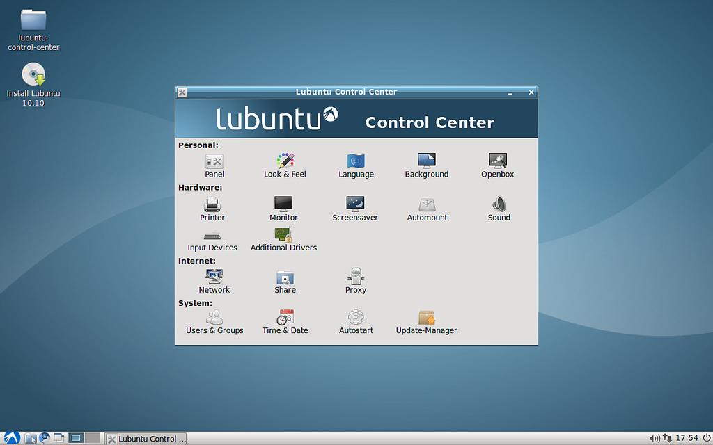 Lubuntu Control Centre by Leszek Lesner