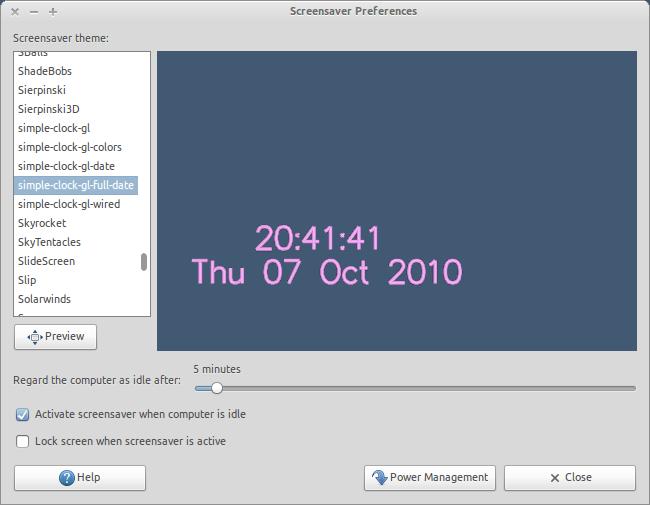 Group of Screensaver Ubuntu 10 5