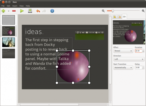 Ease Presentation app in Ubuntu