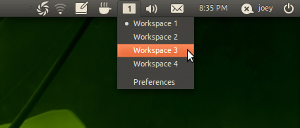 Indicator-Workspaces