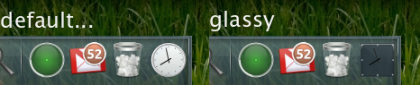 Glassy Docky clock theme