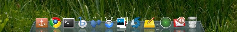 glassy docky theme