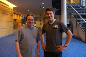 Linus and I at LCA 2011