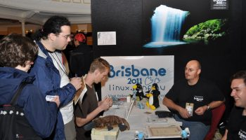 Organizers at LCA 2011 in Brisbane