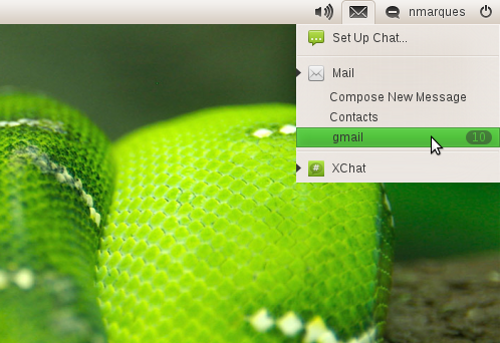 Messaging Menu in openSUSE