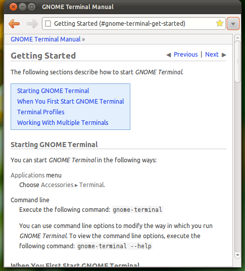 Screenshot-GNOME Terminal Manual