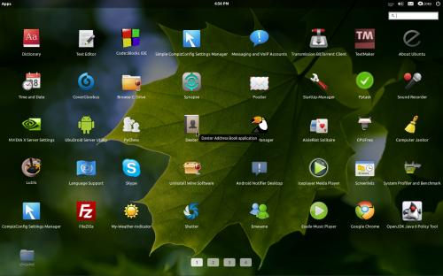 Slingshot in Ubuntu