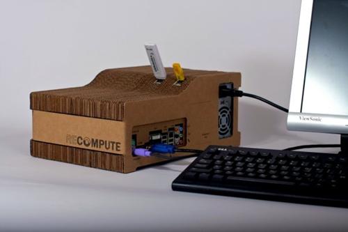 OMG! cardboard computer running Ubuntu