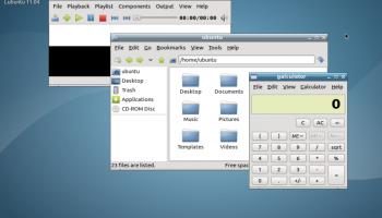 Lubuntu 11.04 Alpha 2 desktop