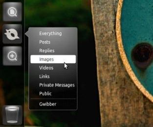 Gwibber Lens in Ubuntu 11.04: Quicklist