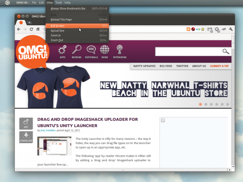 Chromium adds support for Ubuntu 11.04's global menus