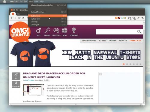 Chromium adds support for Ubuntu 11.04's global menus