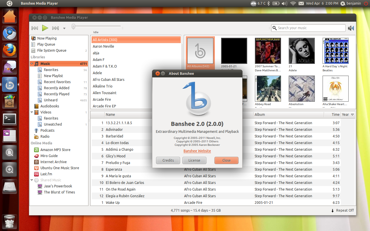 Banshee 2.0 in Ubuntu 11.04