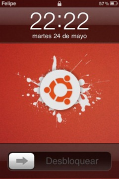 Ubuntu themed iOS lockscreen