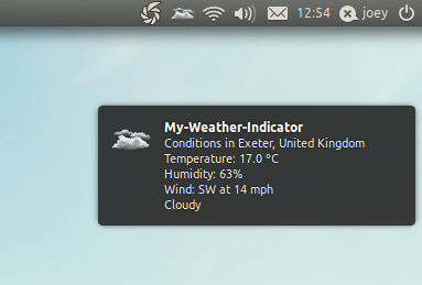 weather indicator notifications