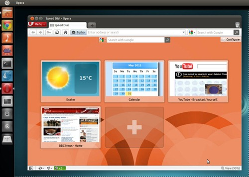 Opera 11.50 beta in Ubuntu 11.04
