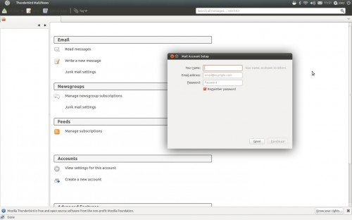 account creation wizard in Thunderbird 5