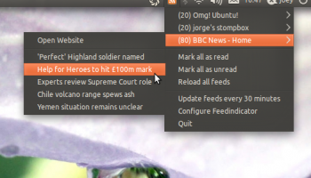 feedindicator in Ubuntu 11.04