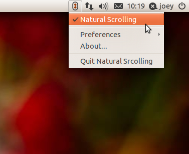 Natural Scrolling Indicator for Ubuntu