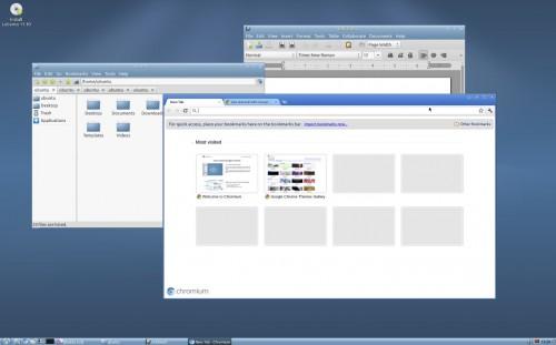 Lubuntu 11.10 Alpha 3 desktop