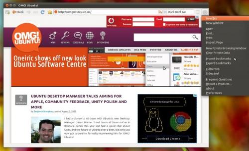 Midori 0.4.0 in Ubuntu 11.04