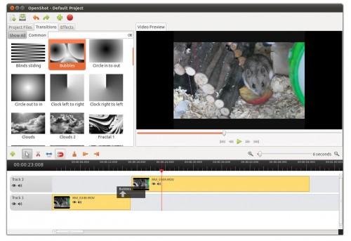 OpenShot 1.4.0 in Ubuntu 11.04