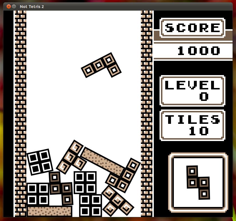 Not Tetris 2の画面