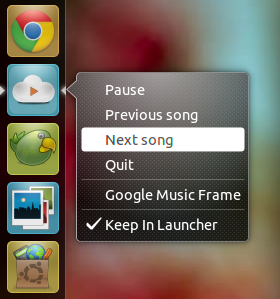 google music frame gets unity support