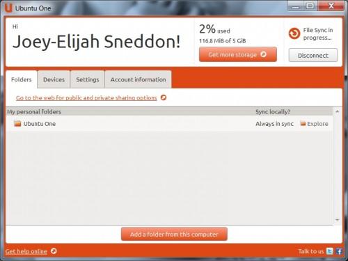 Ubuntu One Sync App