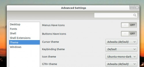 Changing icon theme in ubuntu 11.10