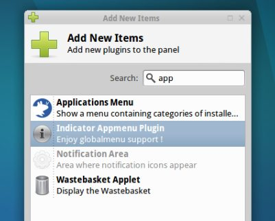 Adding the applet in Xubuntu 11.10