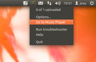 google Music Manager tray icon in Ubuntu 11.10