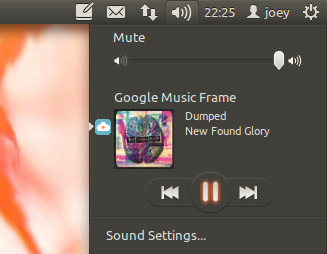 Google Music Sound Menu Integration