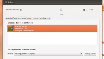 Ubuntu sound Settings in 11.10