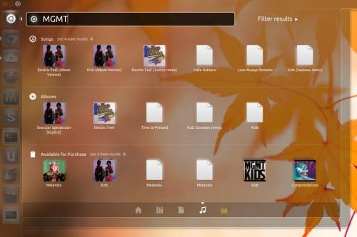 Grooveshark unity Lens