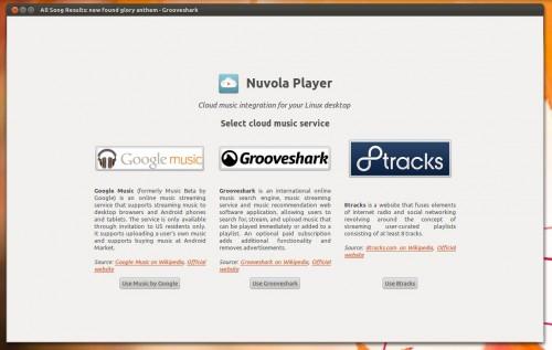 grooveshark desktop app stylee
