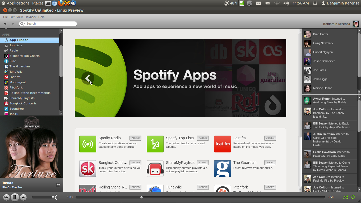 Spotify on Linux Beta Makes Spotify Apps Available