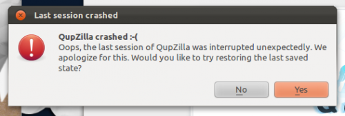 qupzilla crash