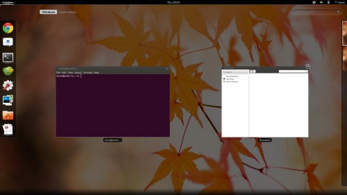 Activities Overview in GNOME Shell