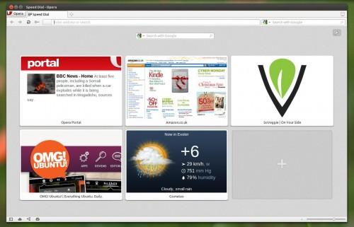 opera 11.60 in Ubuntu 11.10