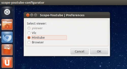 YouTube Scope Options Lets You Choose Minitube