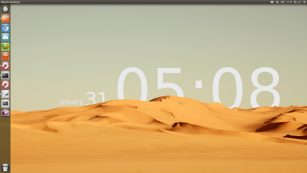 Sands of time wallpaper recreated in Ubuntu