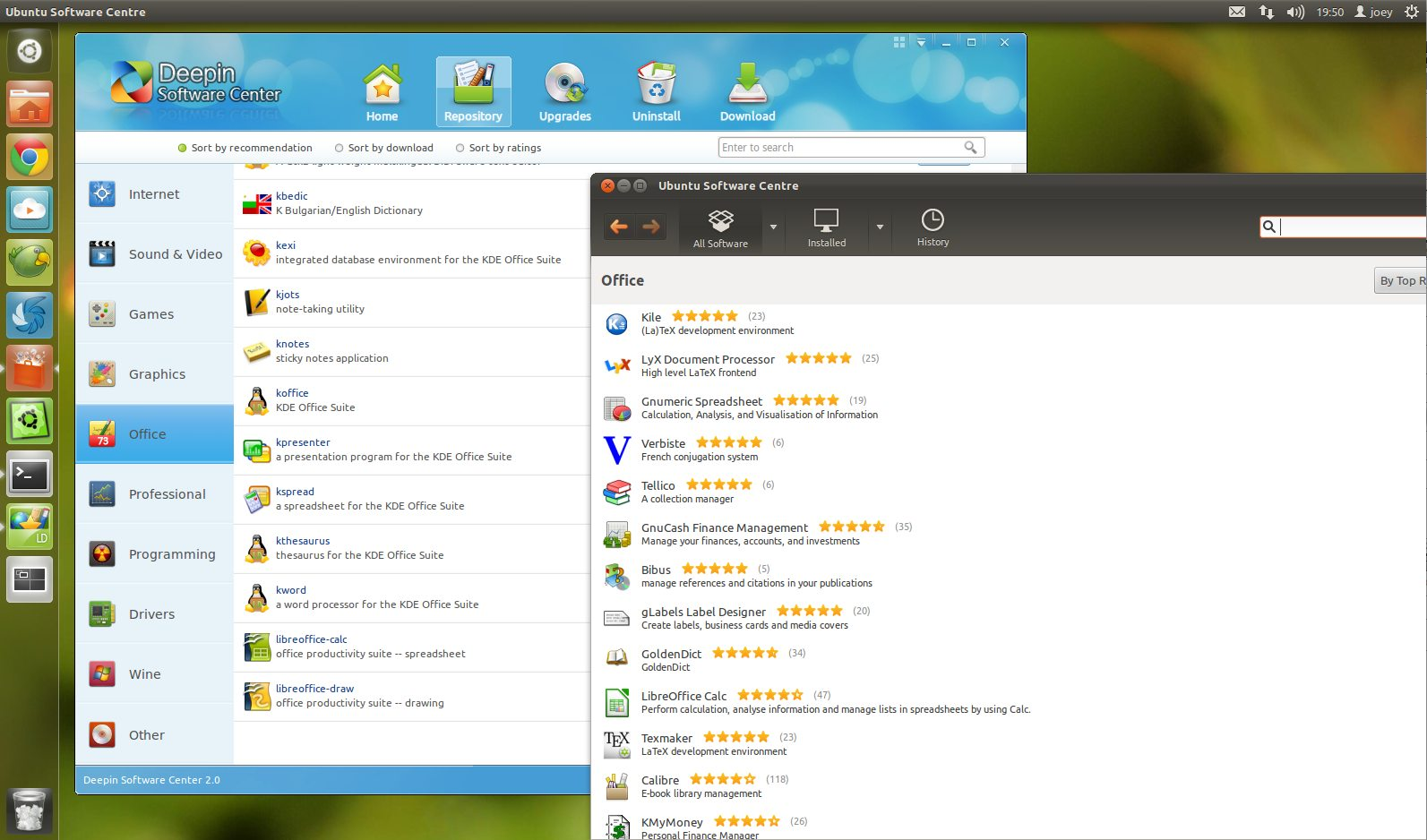 how to run the linux deepin software centre in ubuntu 11