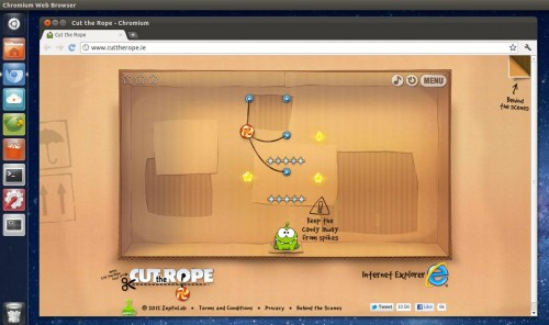 cut the rope in Ubuntu 11.10