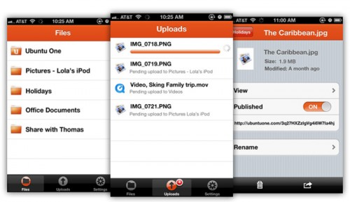 Ubuntu One Files app Apple App Store