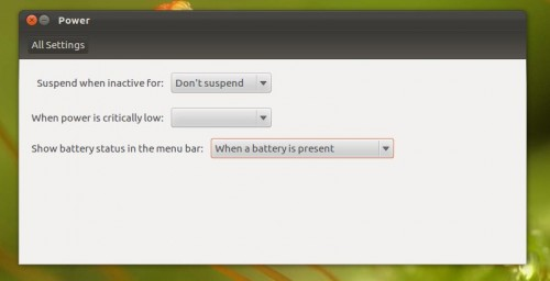 battery options in Precise