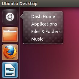 dash quicklist in Ubuntu 12.04 Alpha 2