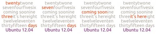 Ubuntu 12.04 Countdown