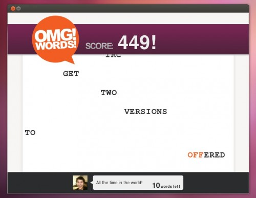 OMG! Words! on Ubuntu 12.04